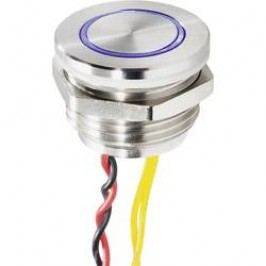Zvonkové nerezové tlačítko Renkforce, 24 V/0,3 A, 25 mm, modrá LED a piezo