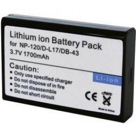 Náhradní baterie pro kamery Conrad Energy NP-120/D-L17/DB-43, 3,7 V, 1700 mAh