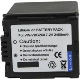 Náhradní baterie pro kamery Conrad Energy VWVBG260, 7,2 V, 2000 mAh