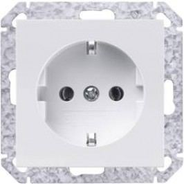 Zásuvka schuko s ochranným kontaktem Sygonix SX.11 33596X, bílá