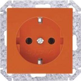 Zásuvka schuko s ochranným kontaktem Sygonix SX.11 33526A, oranžová