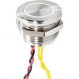 Zvonkové nerezové tlačítko Renkforce, 24 V/0,3 A, 25 mm, bílá LED a piezo