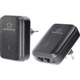 Sada adaptérů Powerline Renkforce PL500D, 500 MBit/s, 2x duo