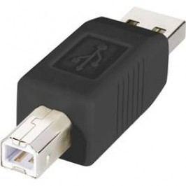USB adaptér Renkforce 1x USB 2.0 zástrčka ⇔ 1x USB 2.0 zástrčka B, černá, pozlacený