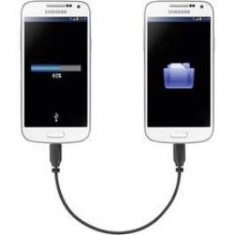 MicroUSb kabel s OTG mirror Renkforce SuperSoft, 0, 15 m