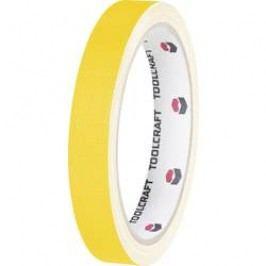 Jednostranná textilní lepicí páska Toolcraft HEB15L10GC, 10 m x 15 mm, žlutá