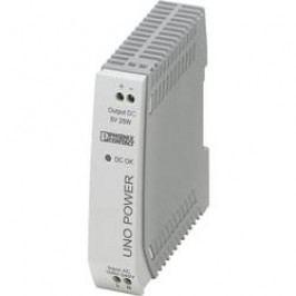 Síťový zdroj na DIN lištu Phoenix Contact UNO-PS/1AC/ 5DC/ 25W, 1 x, 5 V/DC, 5 A, 25 W