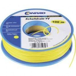 Drát YV 93030c226, 1x 0,20 mm², Ø 1,10 mm, 100 m, žlutá
