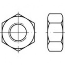 Šestihranné matice TOOLCRAFT 131613, M8, DIN 934, ocel, 100 ks