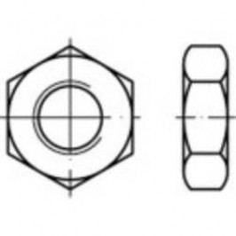 Šestihranné matice TOOLCRAFT 132320, M8, DIN 936, ocel, 100 ks