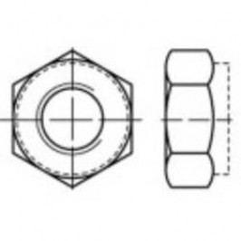 Pojistné matice TOOLCRAFT 135126, M6, DIN 980, ocel, 100 ks