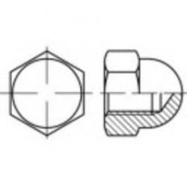 Klobouková matice uzavřená TOOLCRAFT 137159, M4, DIN 1587, ocel, 100 ks