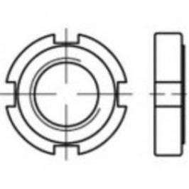 Hřídelové matice TOOLCRAFT 137223, M28, DIN 1804, ocel, 10 ks