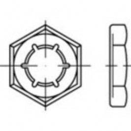Pojistné matice TOOLCRAFT 144076, M33, DIN 7967, pružinová ocel, 50 ks